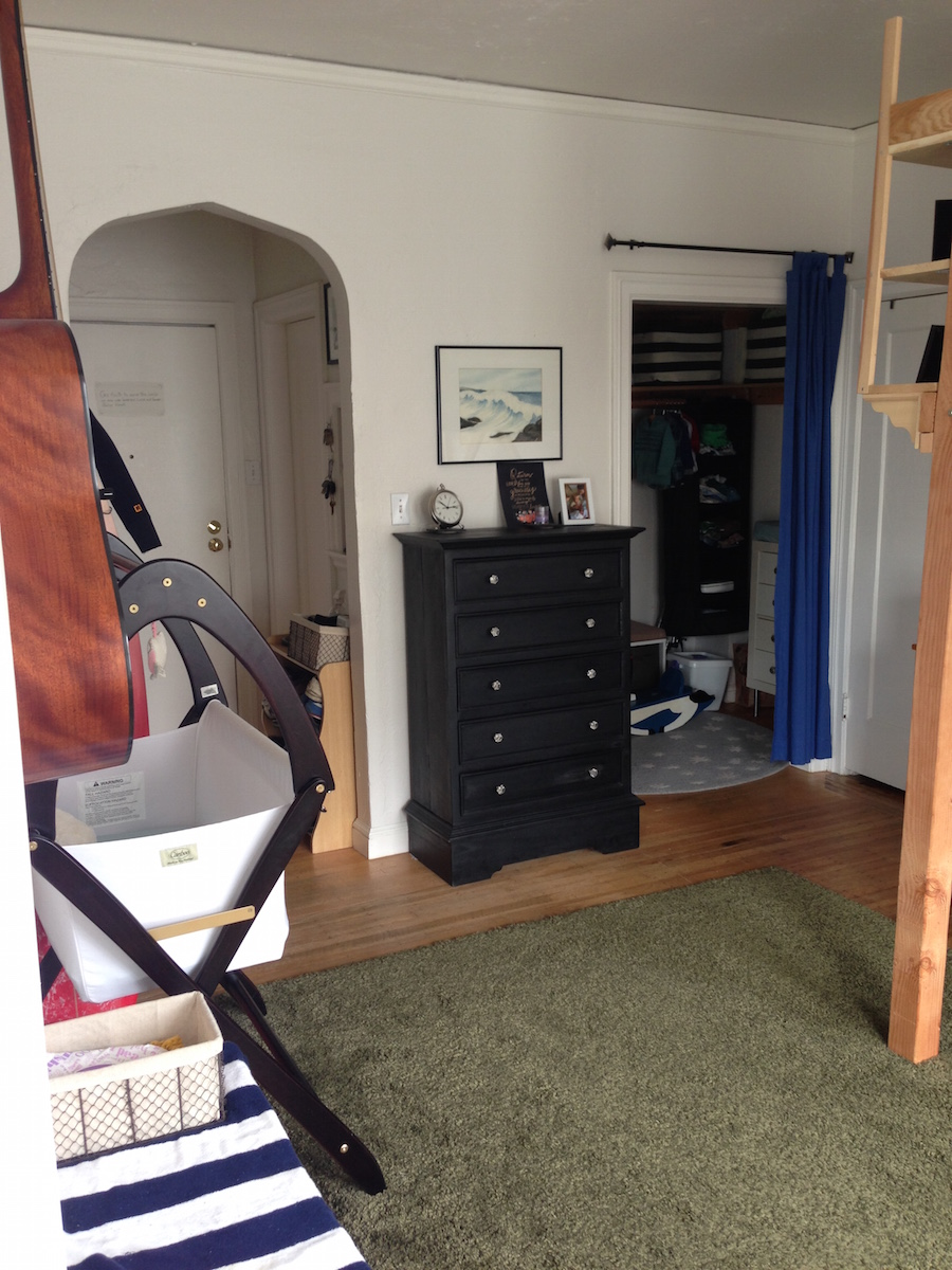 Small Apartment Living life in a studio apartment with my wife and two sons - greg kroleski