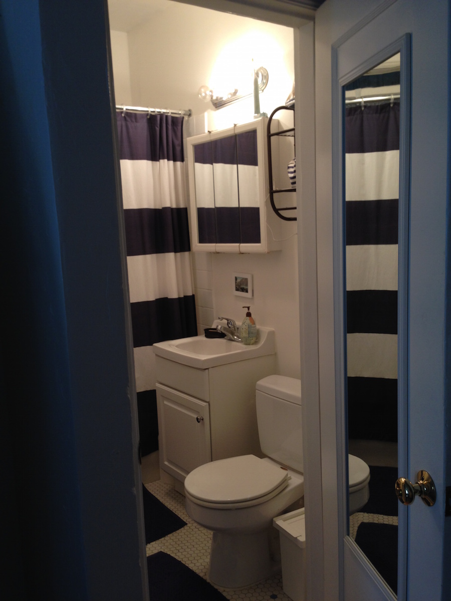 Life in a Studio Apartment with my Wife and Two Sons ... on Apartment Bathroom  id=19872